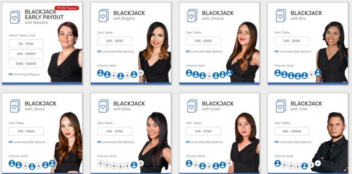 Bovada Live Blackjack USA Canada