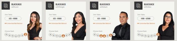 Ignition Casino live Blackjack